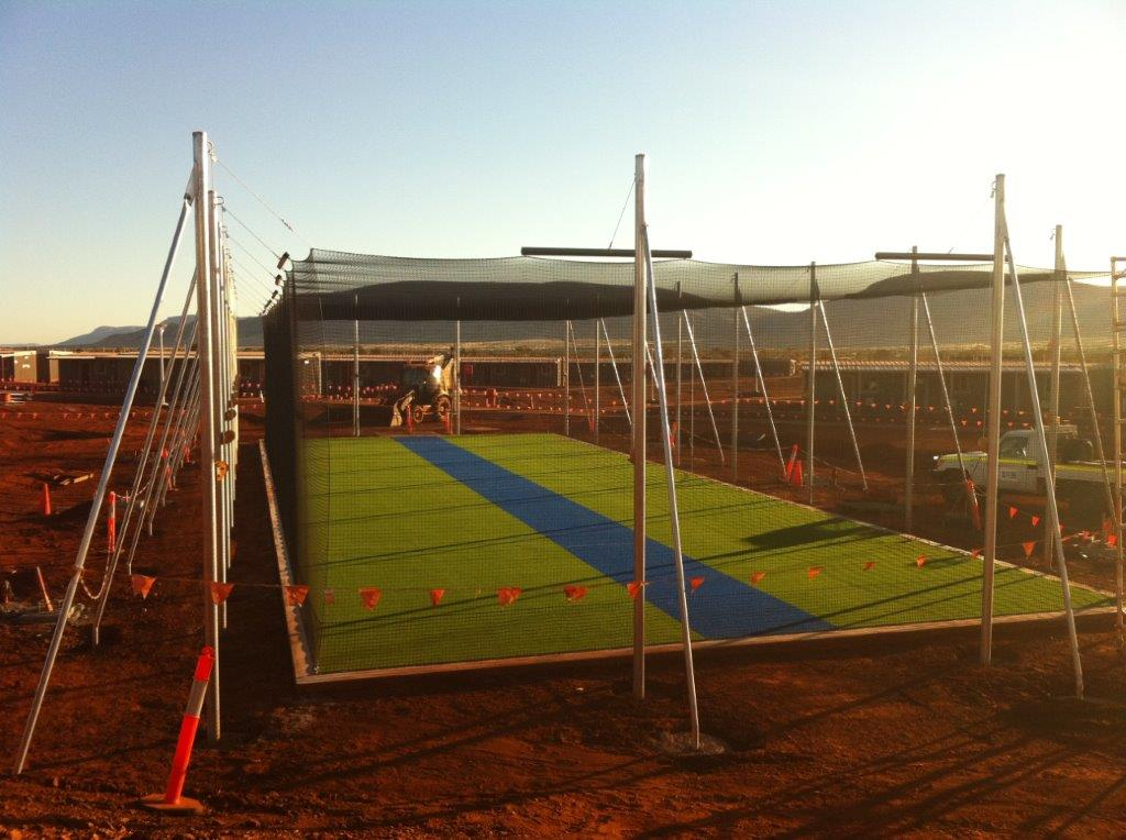 Cricket net construction australia commercial netmakers for Indoor cricket net design
