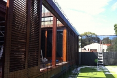 Retractable Netting to Protect Windows