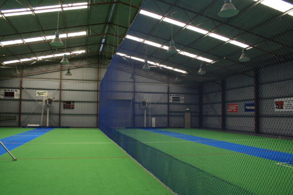 Sports barrier netting perth wa ball stop net suppliers for Indoor cricket net design