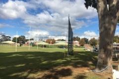 Barrier Netting for behind AFL goals