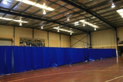 Mandurah Aquatic Court Divider Nets - Retractable divider curtain with PVC at bottom