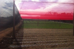 Hail Net Structure with Red Net