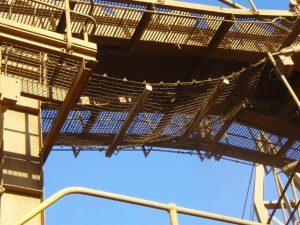 Safety Net to catch falling debris